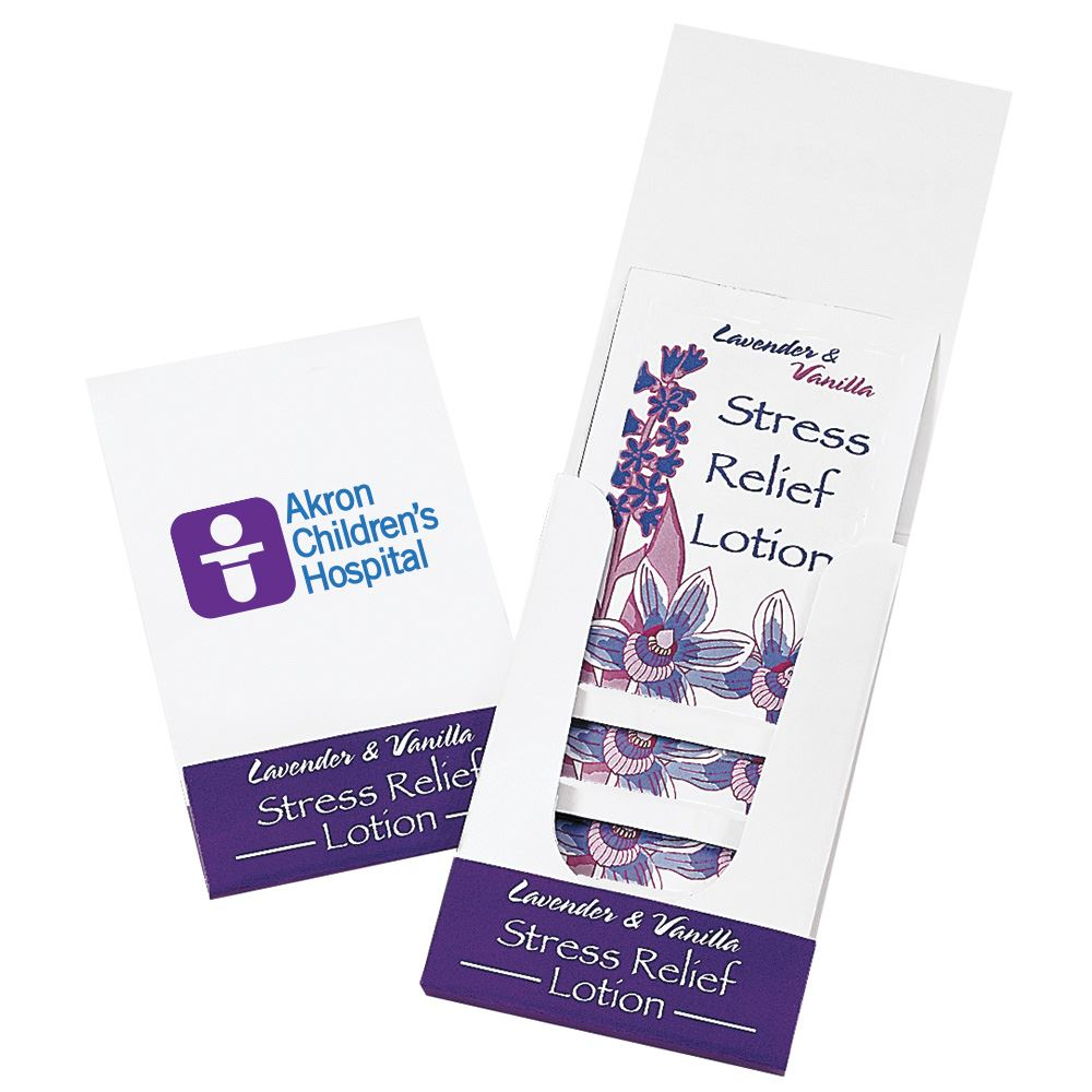 Lavender & Vanilla Stress Relief Lotion Pocket Pack - Personalization Available