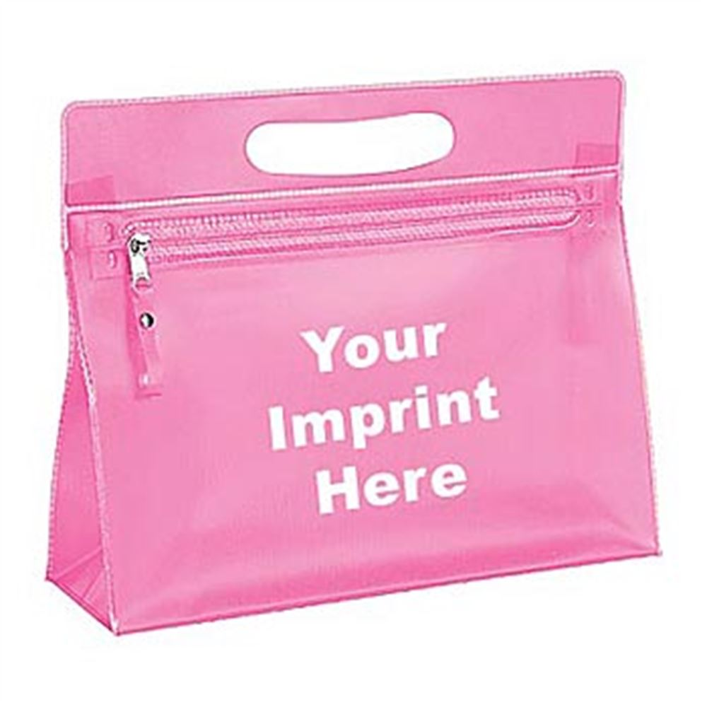 Translucent Vinyl Vanity Cosmetic Bag - Personalization Available