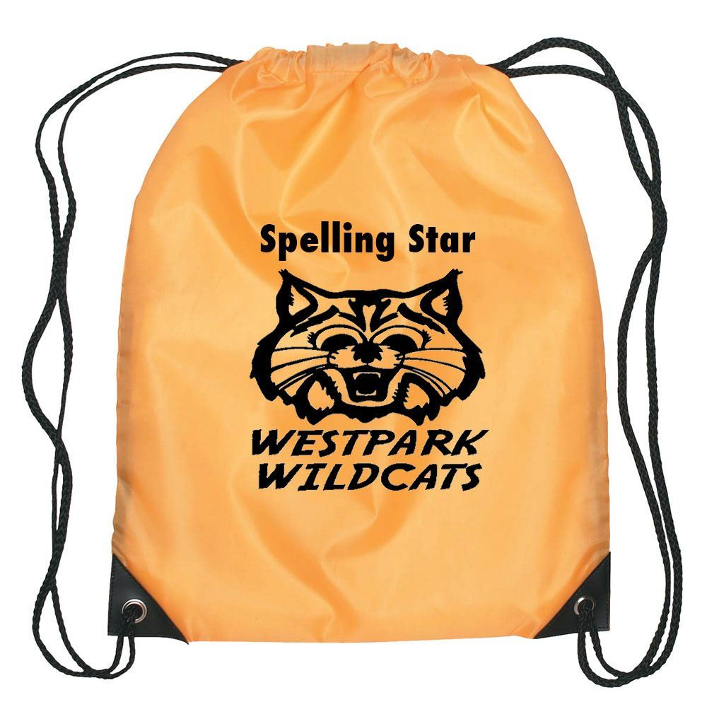 Durable Kid�s Drawstring Backpack with reinforced Corners - Personalization Available