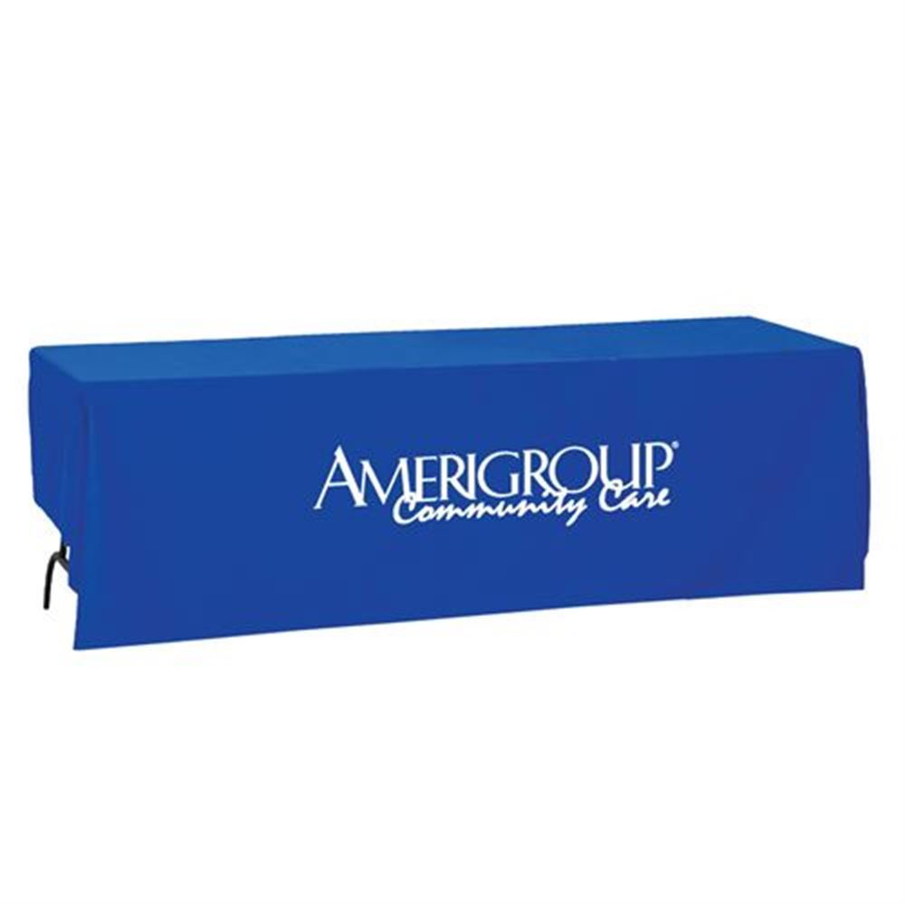 trade show table covers Trade Show Standard 8 Foot Table Cover | Positive Promotions trade show table covers