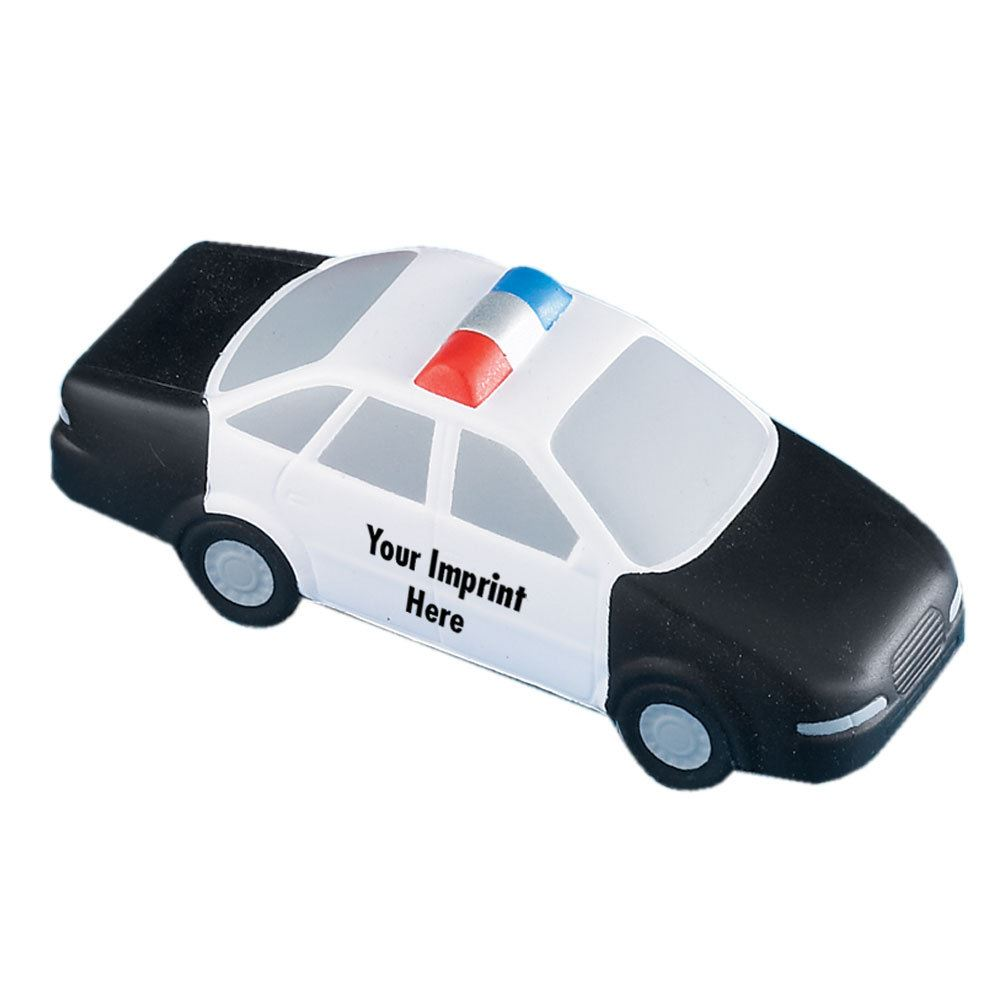 Police Car Squeeze Toy - Personalization Available