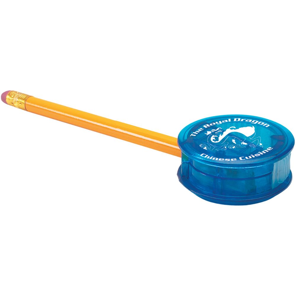Plastic Pencil Sharpener - Personalization Available