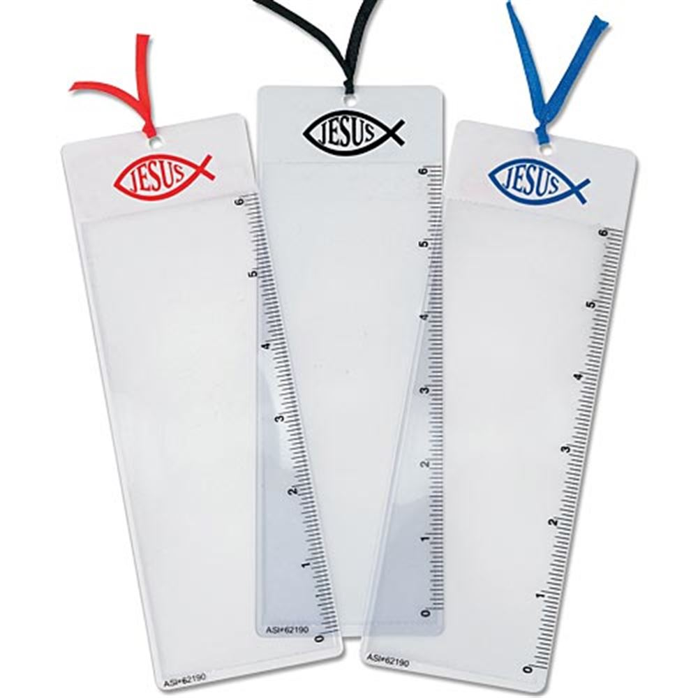 """Bookmark Magnifer With 6"""" Ruler On Side - Personalization Available"""