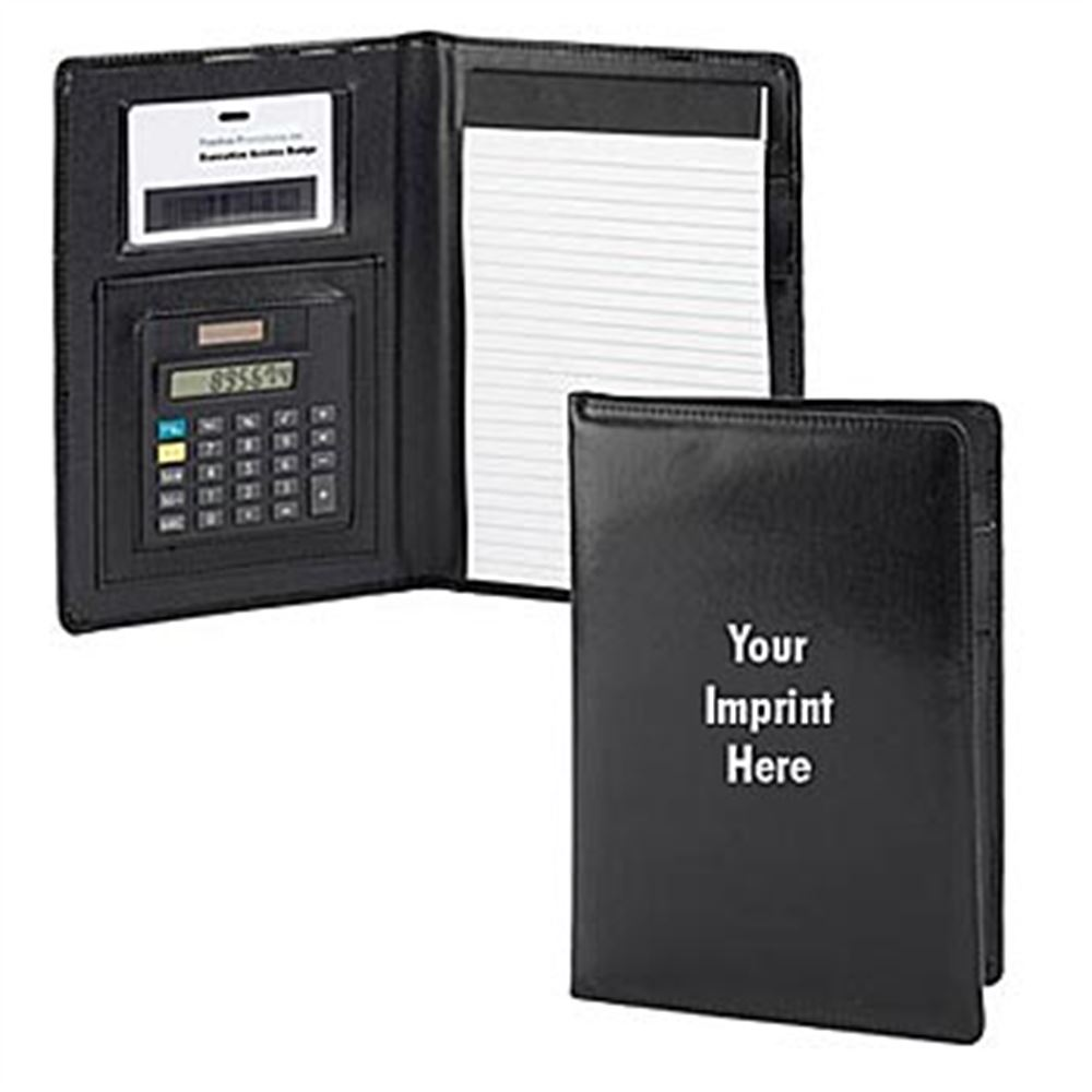 Jr. Executive Solar Powered Calculator Padfolio - Personalization Available