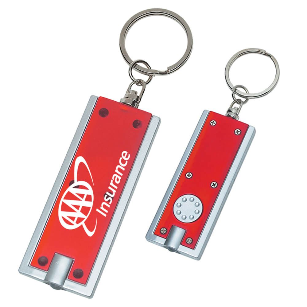 Rectangular LED Key Chain - Personalization Available