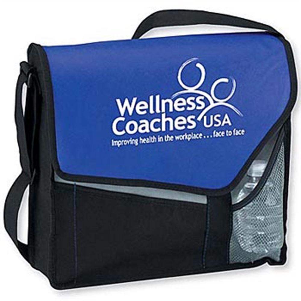 Eco-Friendly Non-Woven Slant Messenger Bag - Personalization Available