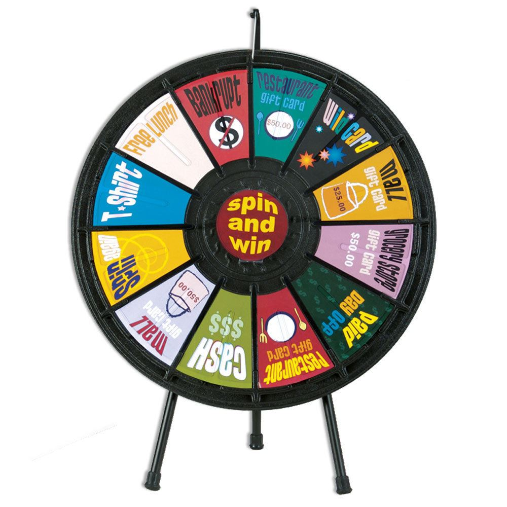 tradeshow 12 slot prize wheel positive promotions. Black Bedroom Furniture Sets. Home Design Ideas