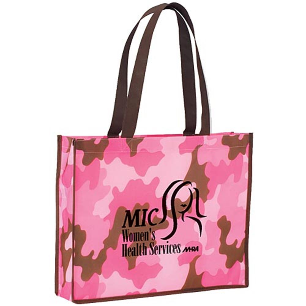 Camo Non-Woven Tote Bag - Personalization Available