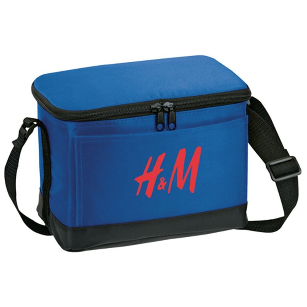 6-Pack Insulated Bag With Double Zipper Closure - Personalization Available