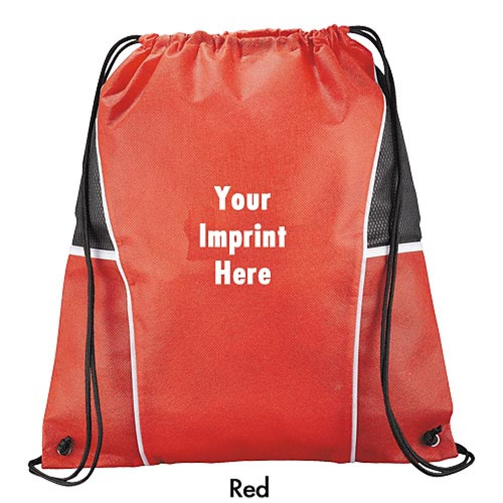 Diamond Drawstring Backpack - Personalization Available