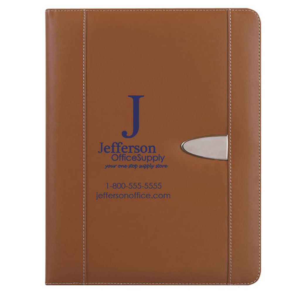 Bonded Leather Portfolio With 30-Page Writing Pad - Personalization Available