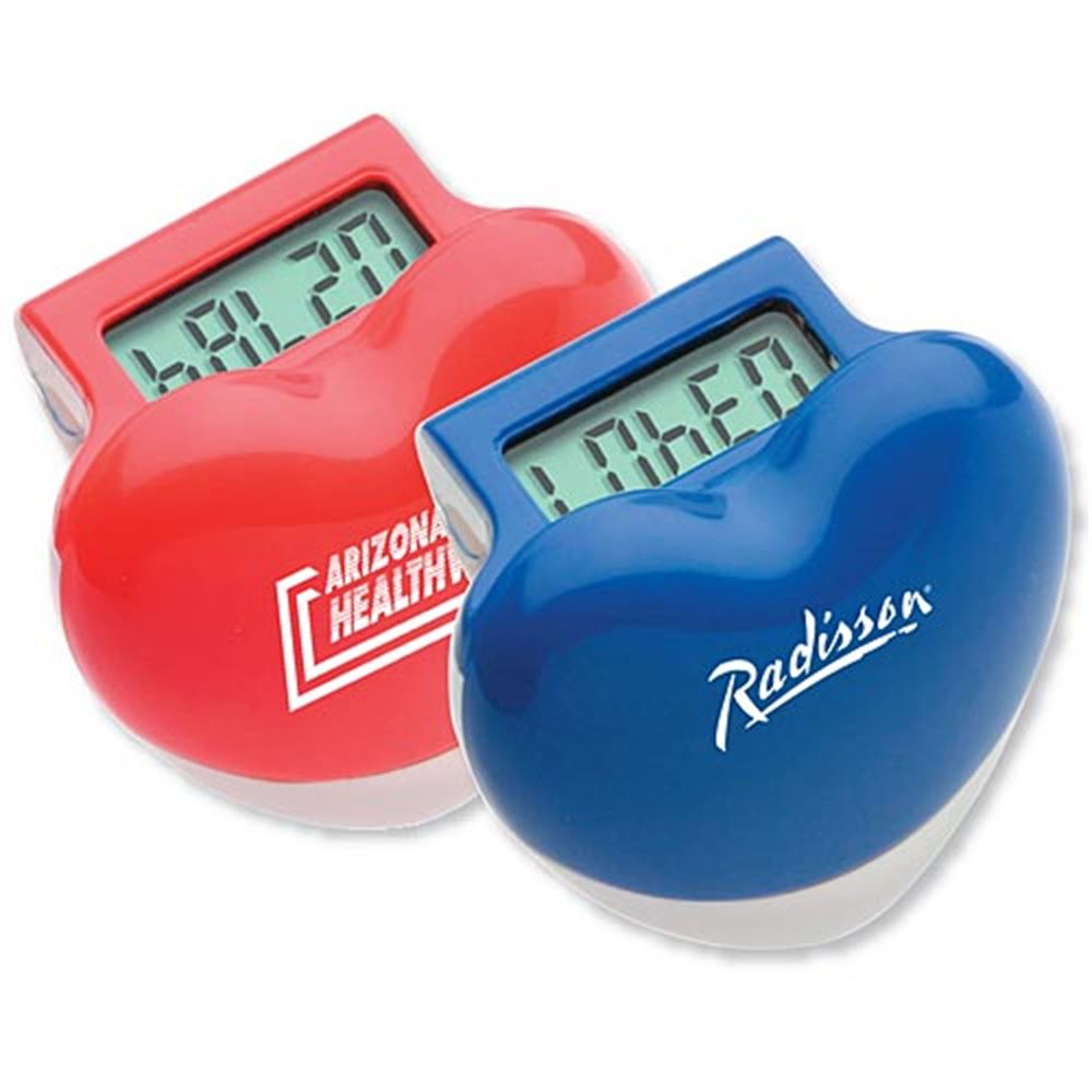 Heart-Shaped Step Pedometer - Personalization Available