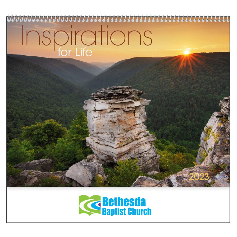 Inspirations For Life 2020 Calendar - Spiral - Personalization Available