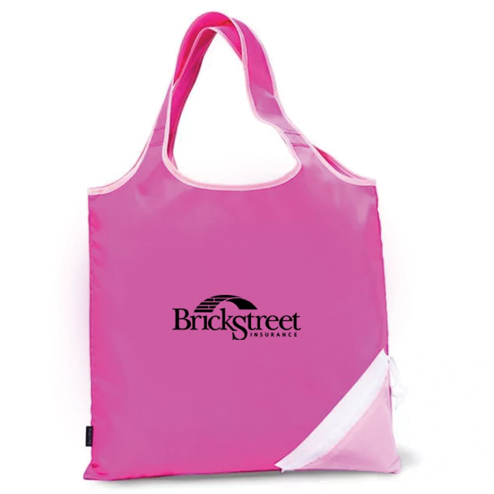 Soft Sided On-The-Go Foldaway Shopper Tote - Personalization Available