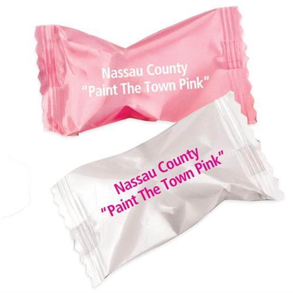 Butter Mints In Pink Or White Wrappers - Personalization Available