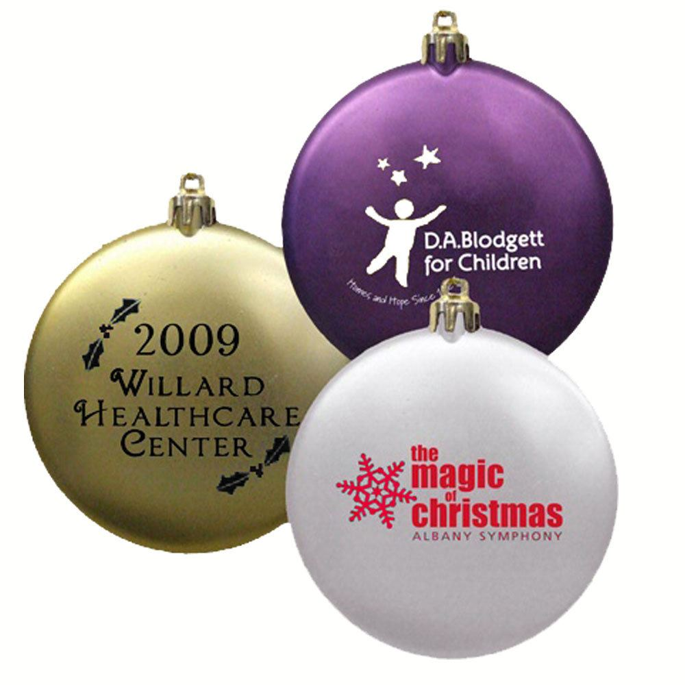 Shatterproof Satin Flat Holiday Ornament - Personalization Available