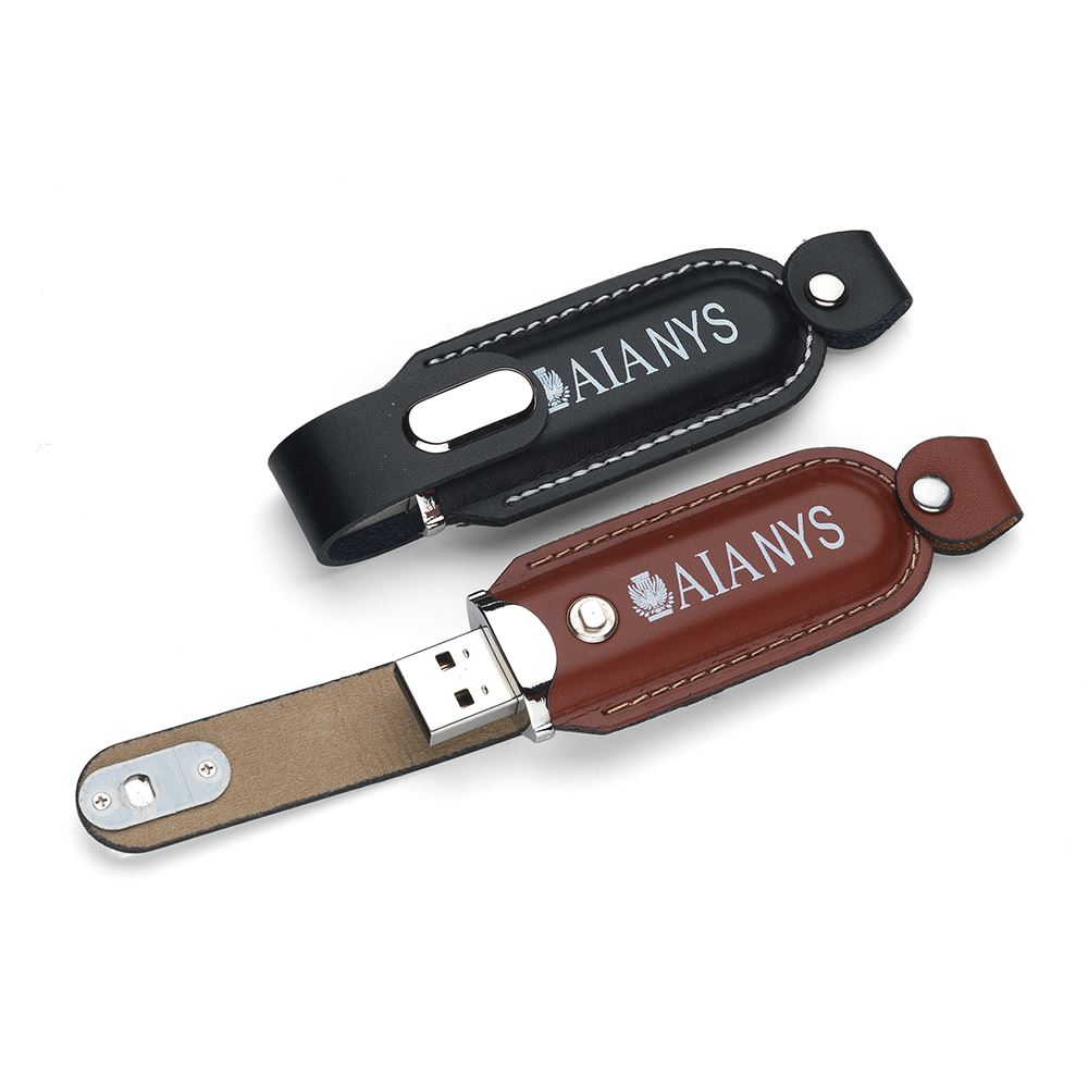 2GB Executive Leather USB 2.0 Flash Drive - Personalization Available