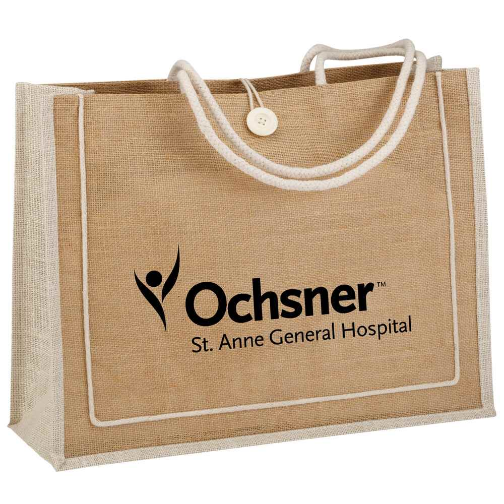 Eco-Jute Carryall - Personalization Available