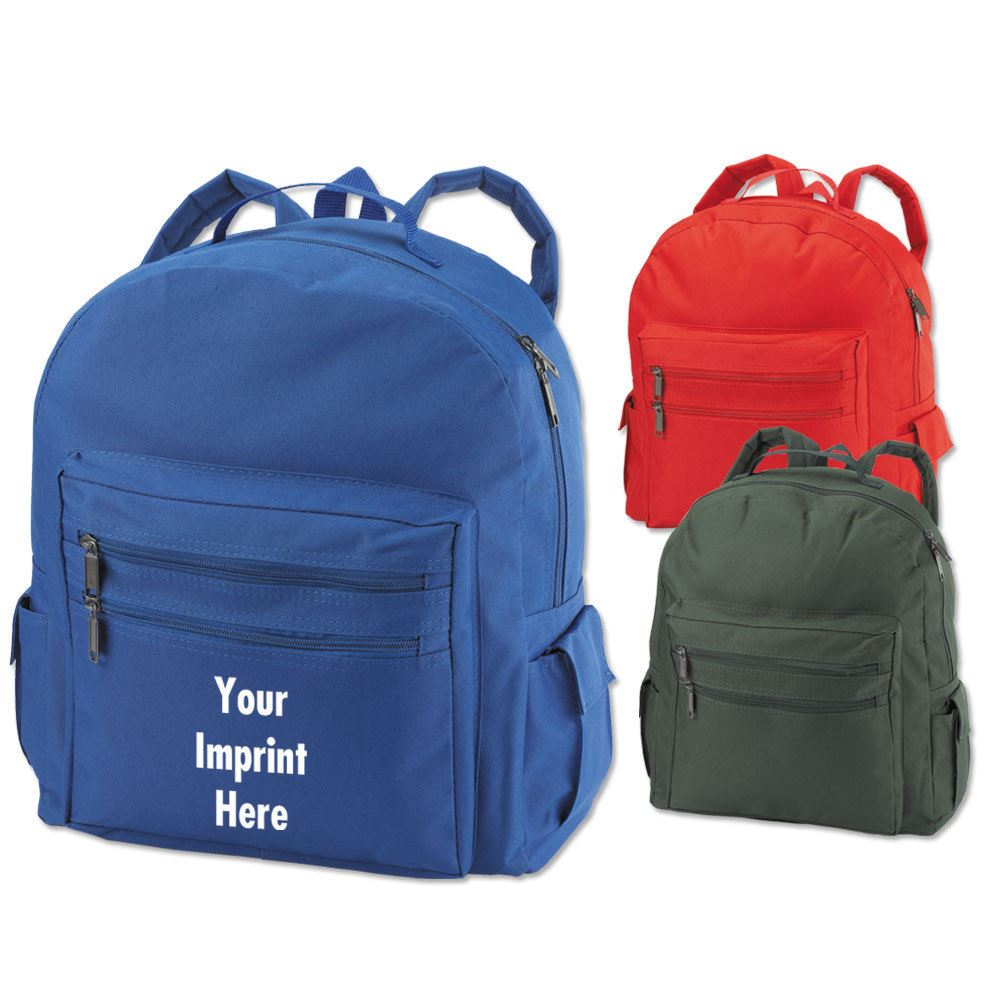 All-Purpose Backpack With Two Side Pockets - Personalization Available