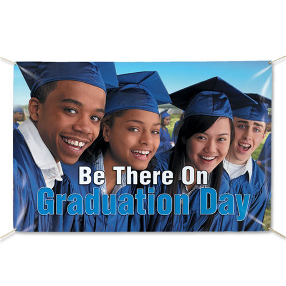 Be There On Graduation Day 5' x 3' Banner