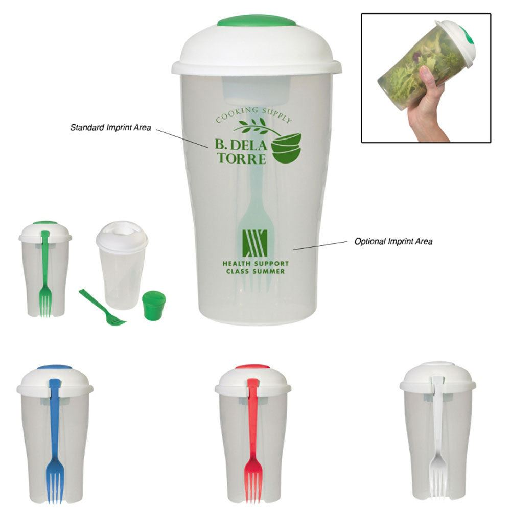 3-Piece Salad Shaker - Personalization Available