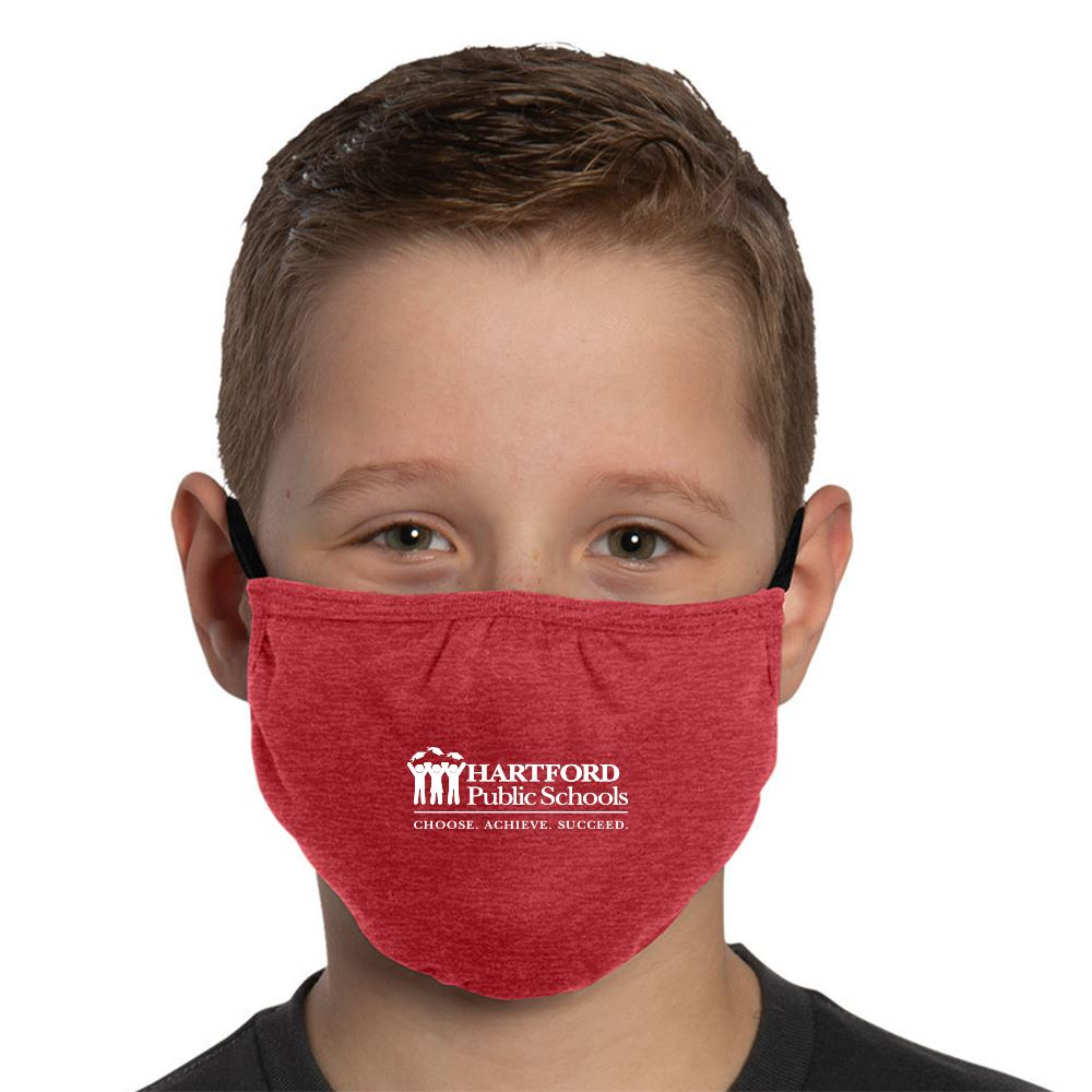 3-Ply District V.I.T. Shaped Youth Face Mask - 1 Color Personalization Available