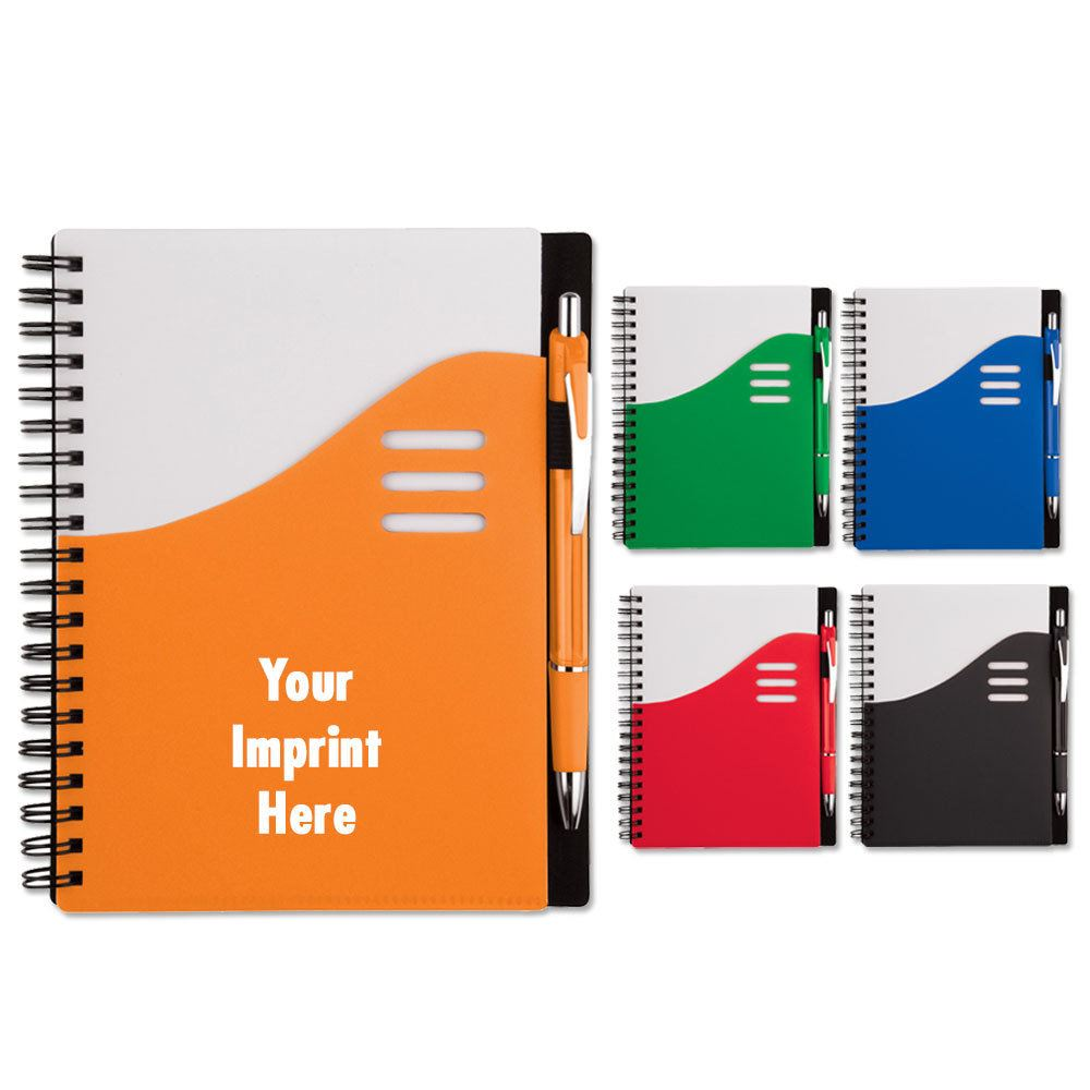 Color Wave Notebook - Personalization Available