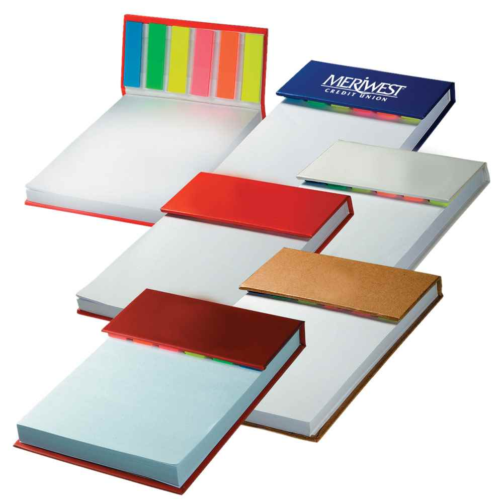 Hardcover Sticky Flag Jotter Pad - Personalization Available