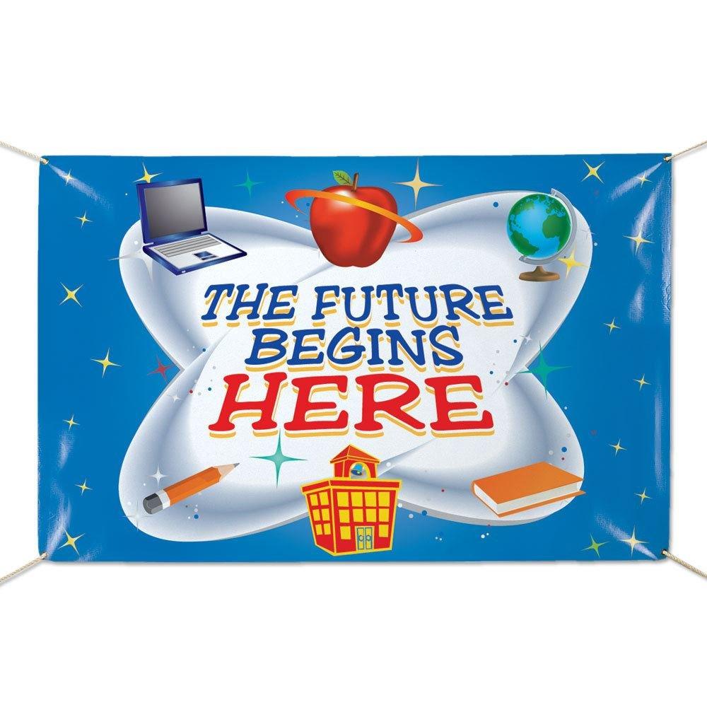The Future Begins Here 6' x 4' Vinyl Banner