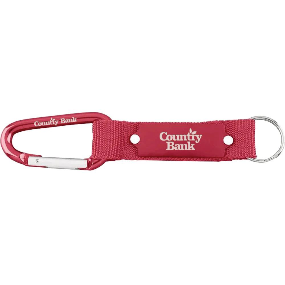 Carabiner Strap Key Ring - Personalization Available