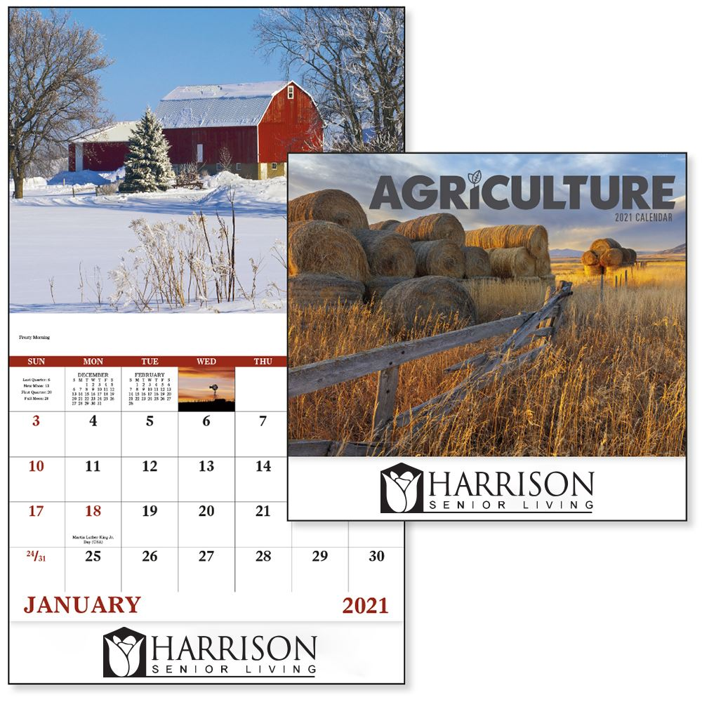 Stapled Agriculture Americana 2021 Appointment Calendar-Add Your Personalization