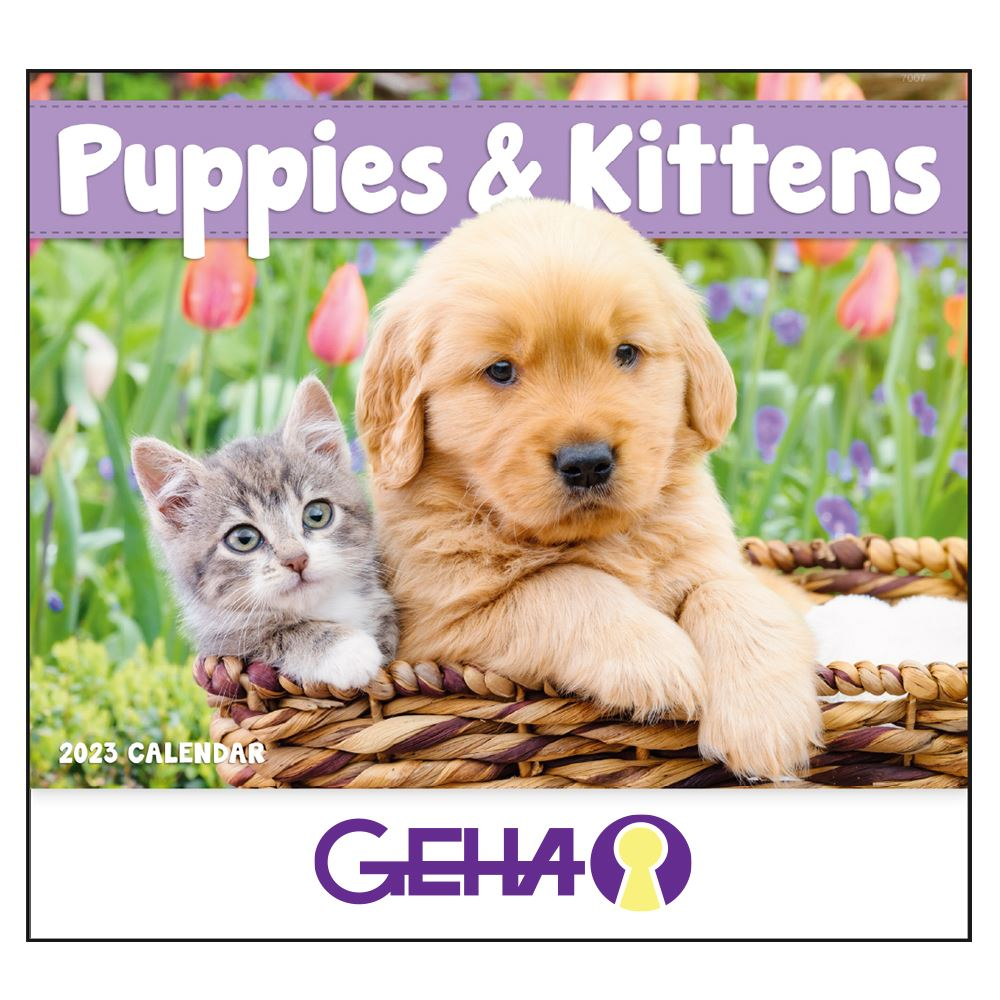 2022 Puppies & Kittens Wall Calendar - Stapled -��Add Your Personalization