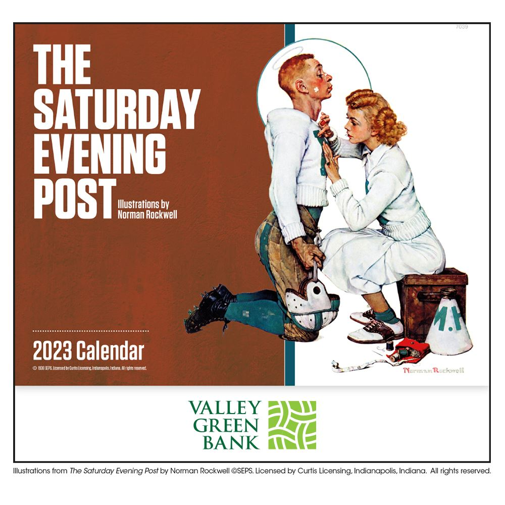 Saturday Evening Post 2021 Wall Calendar Stapled-Add Your Personalization