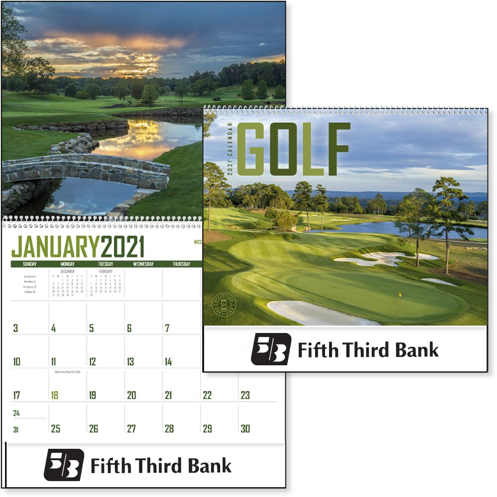 Golf 2021 Calendar - Personalization Available