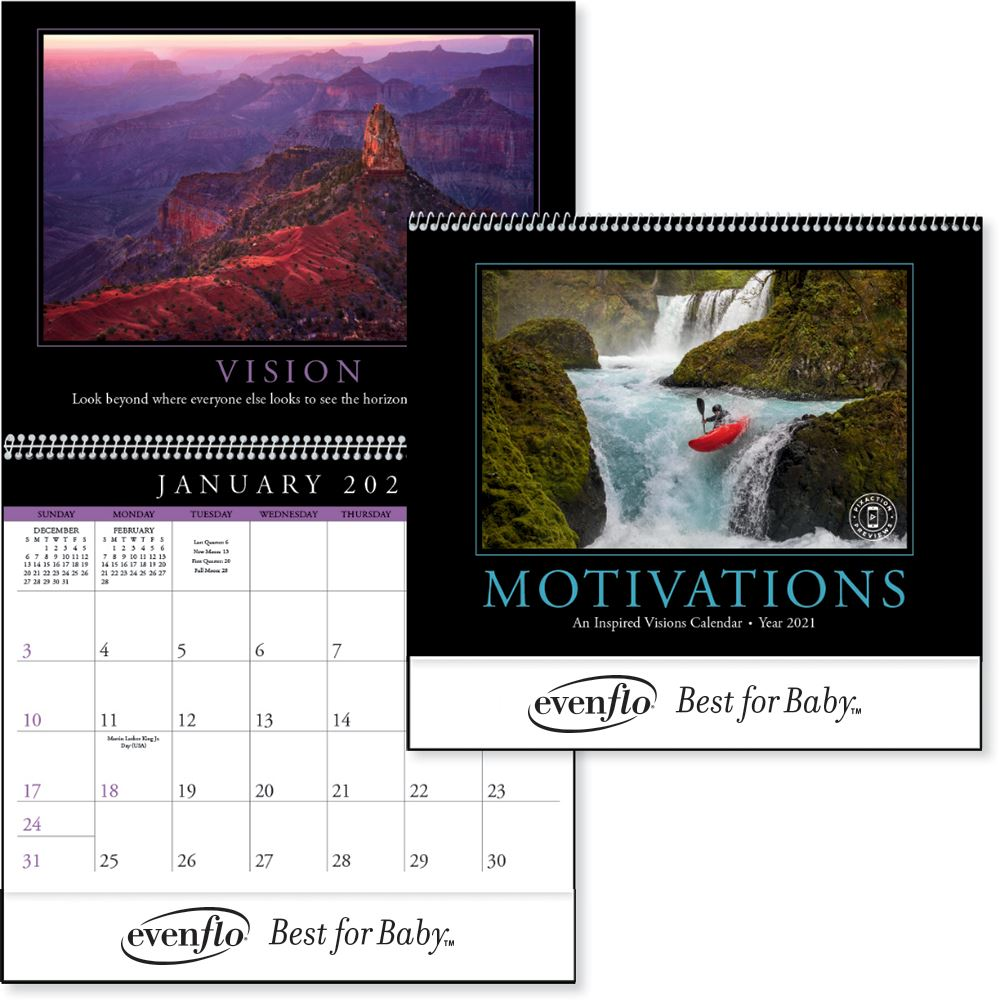 Motivations 2021 Calendar - Personalization Available
