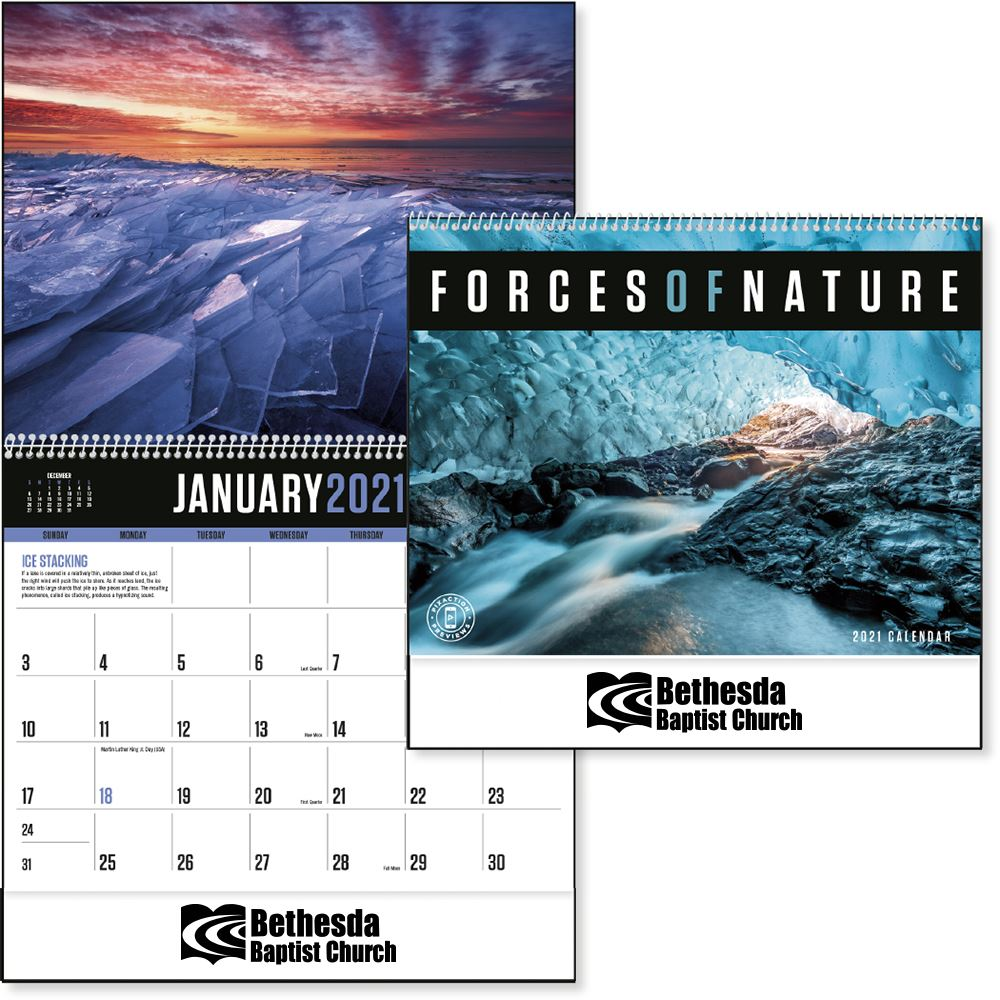 Forces of Nature 2021 Calendar- Personalization Available