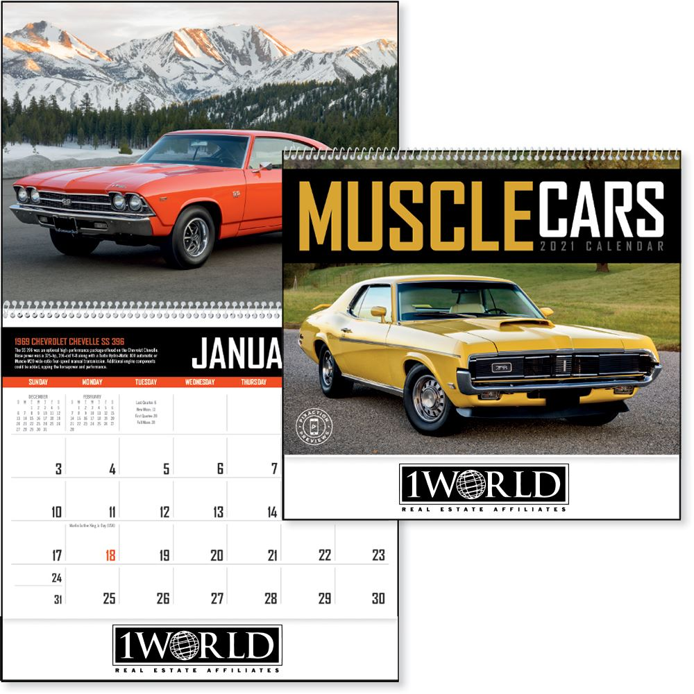 Muscle Cars 2021 Calendar - Personalization Available
