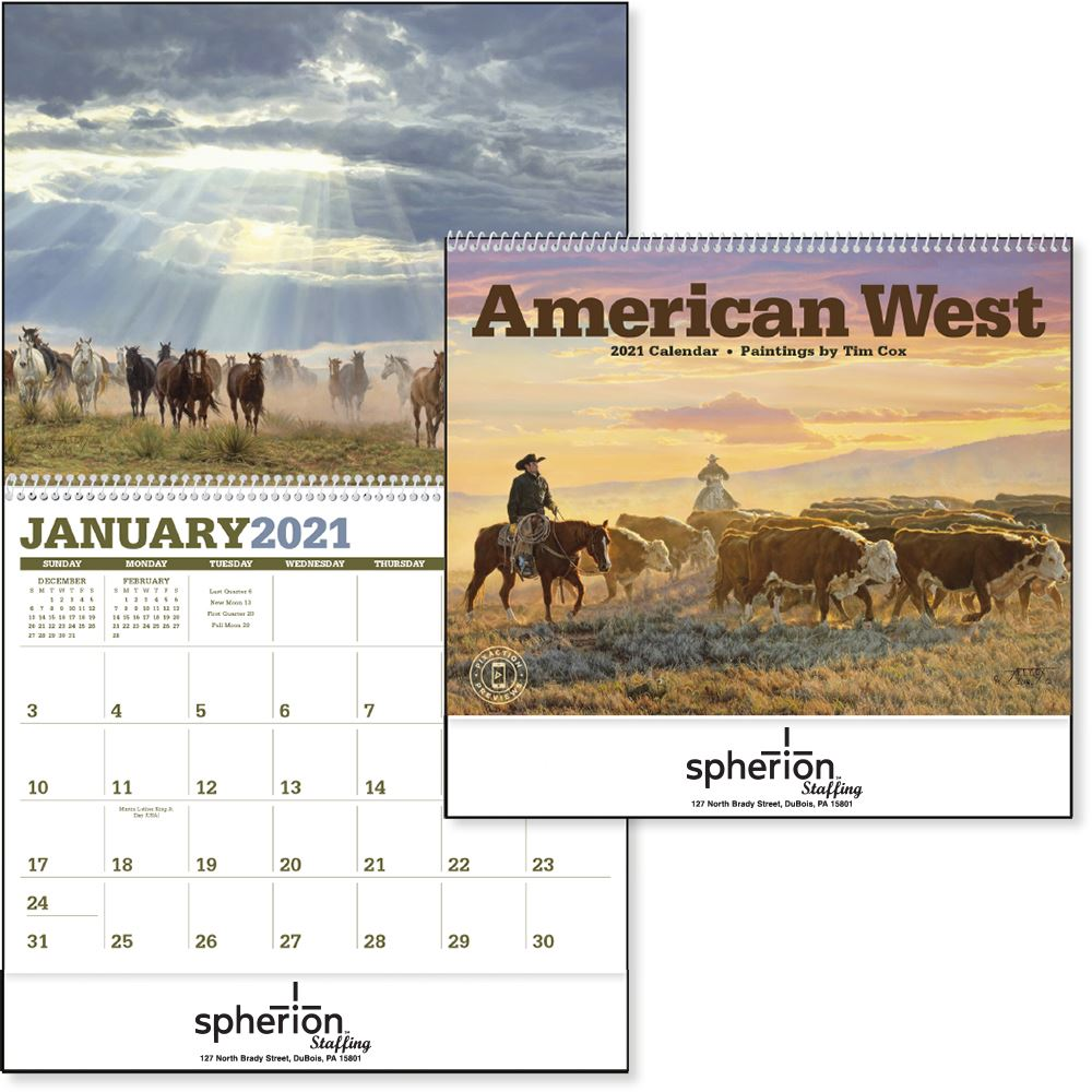 American West 2021 Calendar-Add Your Personalization