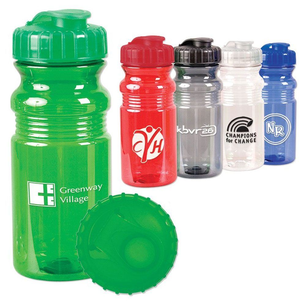 Translucent Sport Bottle With Snap Cap 20-oz. - Personalization Available