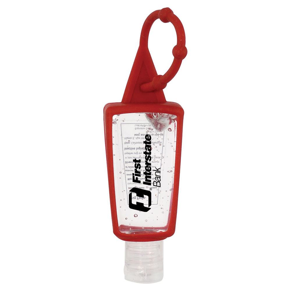 Handy Holder Trapezoid-Shaped Sanitizer 1-Oz. - Personalization Available