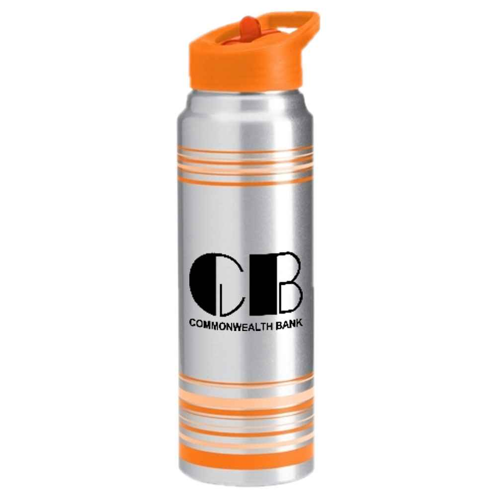 Striped Aluminum Water Bottle 32-oz. - Personalization Available