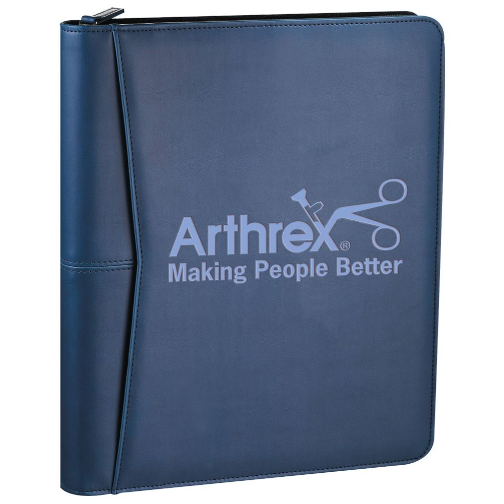 Luxe Executive Zippered 2-In-1 Padfolio/iPad® Stand - Personalization Available
