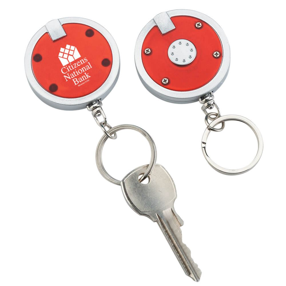 Push-Button Light-Up Key Ring - Personalization Available