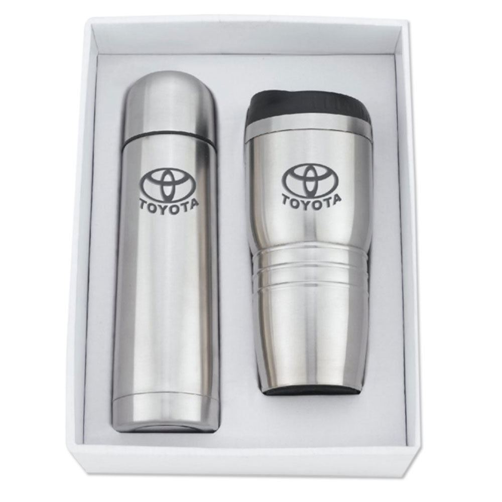 16-oz. Stainless Steel Tumbler Set With Thermos 16.5-oz. - Personalization Available