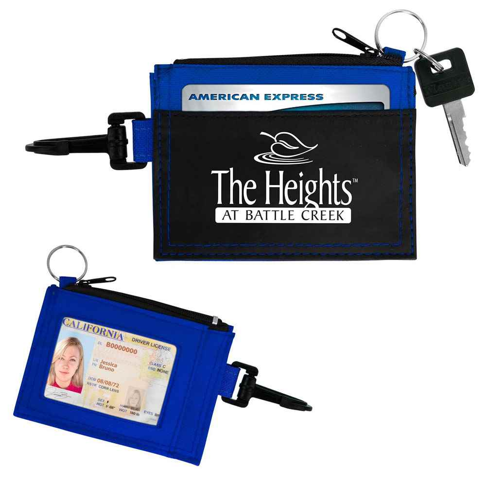 Fabric Wallet With ID Holder - Personalization Available