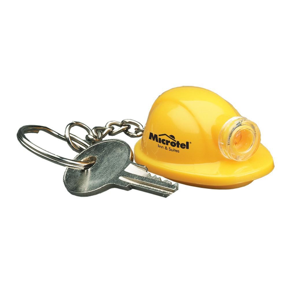 Hard Hat Light-Up Key Tag - Personalization Available