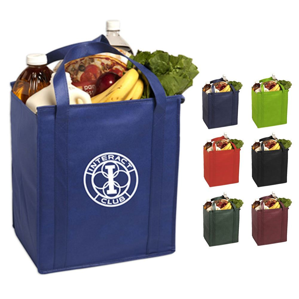 Insulated Large Non-Woven Grocery Tote - Personalization Available