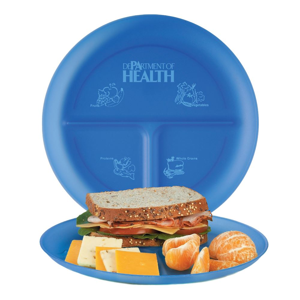 Adult Polypropylene Portion Plate - Personalization Available