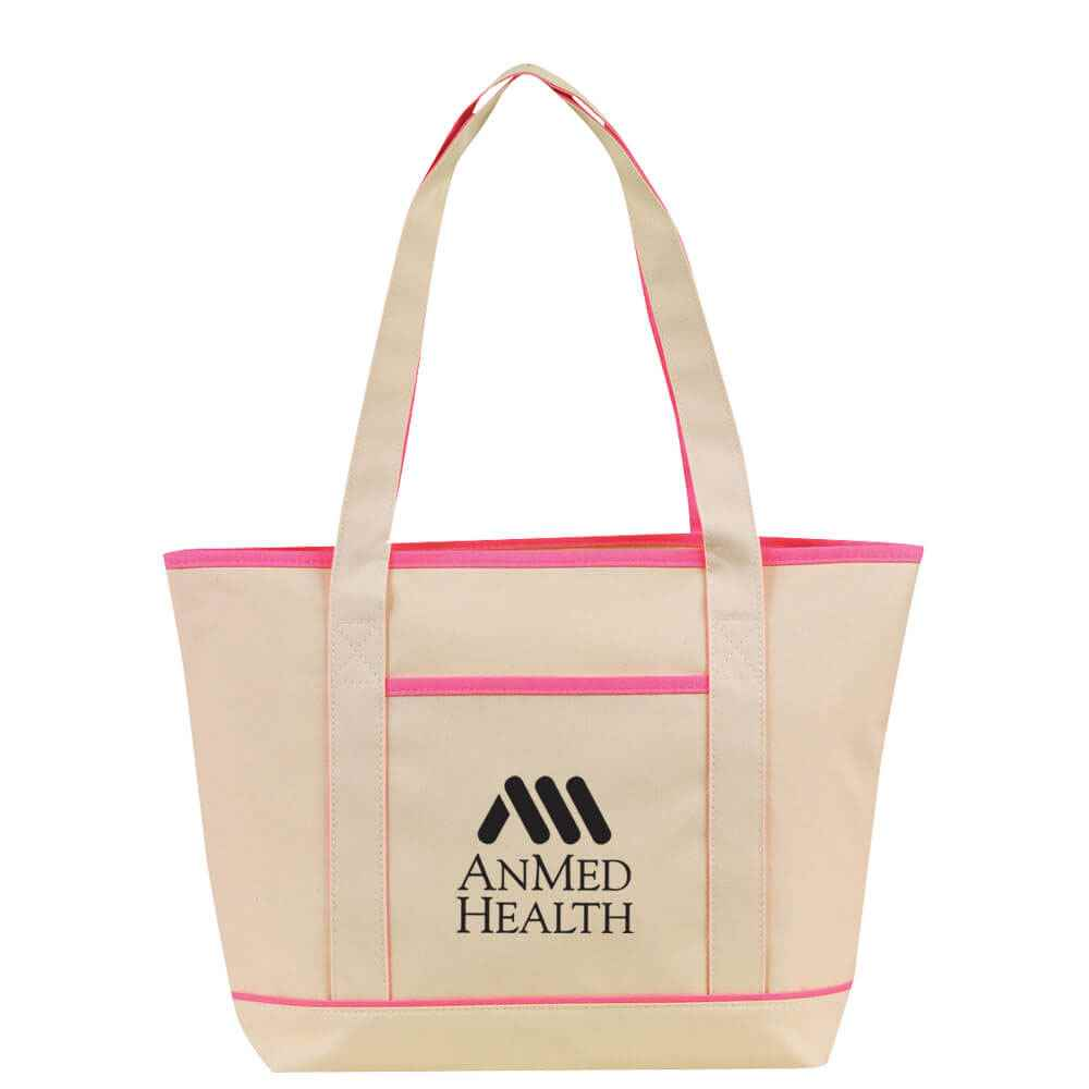 Natural Boat Tote - Personalization Available