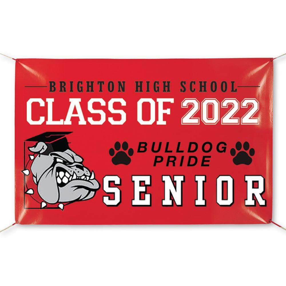 Fully Custom Full-Color 5' x 3' School Banner - Personalization Available